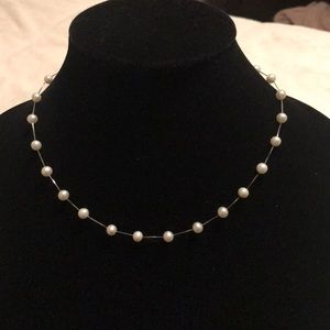 🔥14k white gold pearl necklace✨✨✨✨✨💕